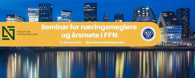 Seminar for næringsmeglere og årsmøte i FFN